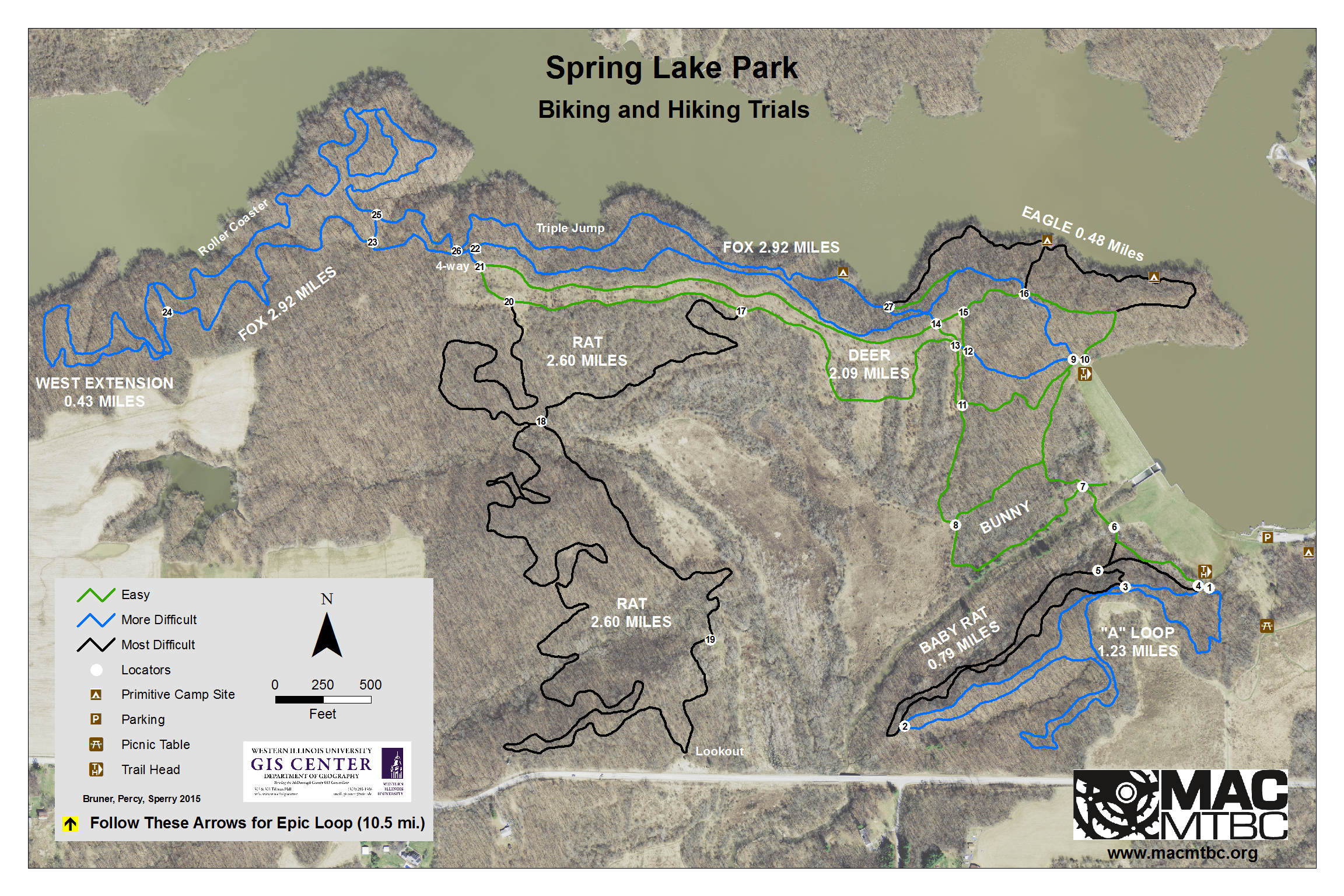 Spring Lake Trail Map Macomb Area Cycling Mountain Bike Club